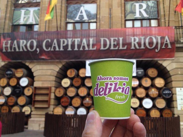 El #vasoviajero de visita por la #capitaldelrioja. Lo llenamos??