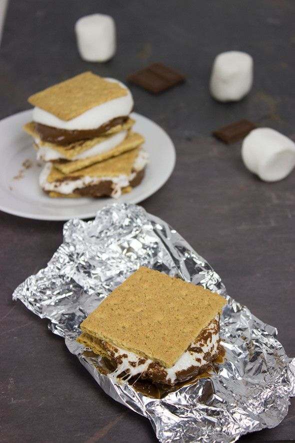 Dessert on the Grill: Grilled S'mores   Spiced