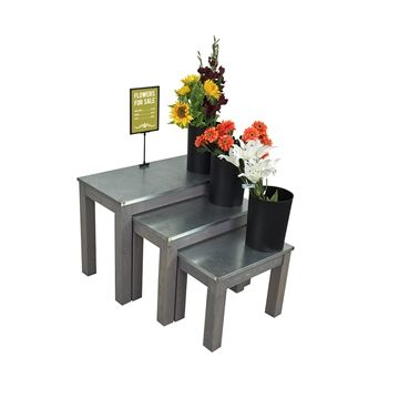 DAISY - Flower Display Nesting Table Set - Wide Color Choice! plant display stands, produce displays, grocery store displays, flower racks