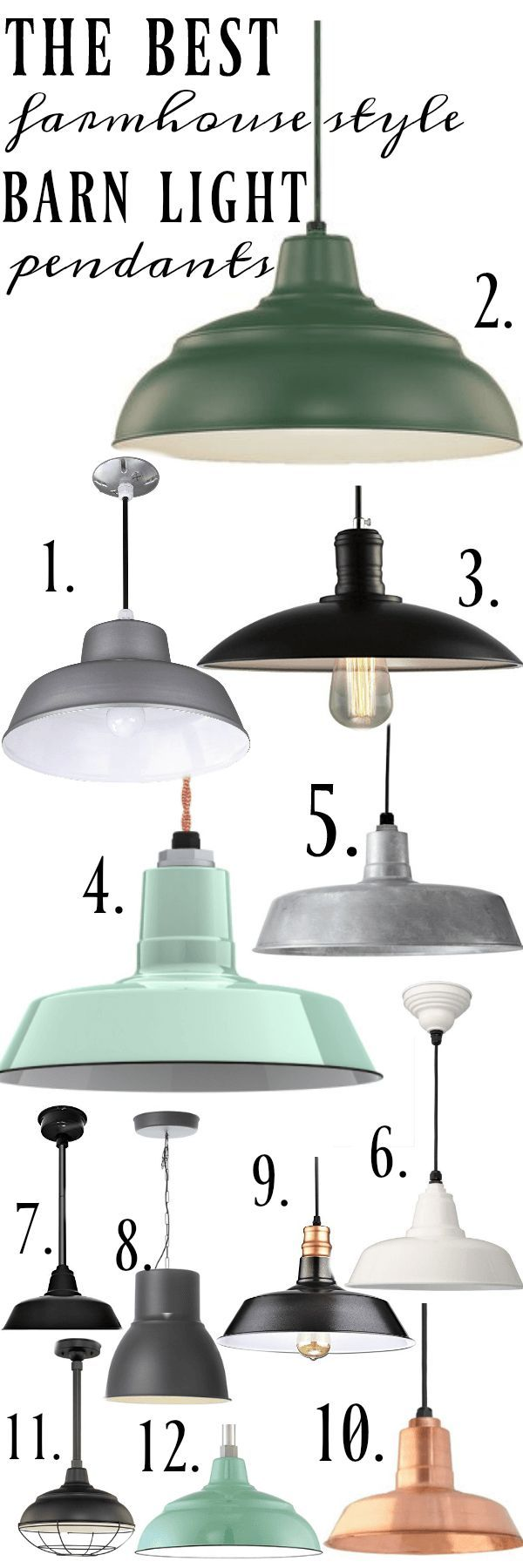 """The best farmhouse style barn light pendants - The best barn light pendants a must pin for indoor/outdoor farmhouse style/cottage style lights."""
