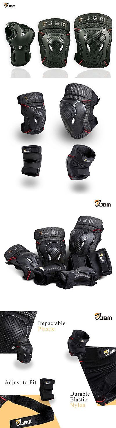 Protective Gear 16260: Jbm Roller Skating Skateboard Knee Elbow Wrist Protective Guard Pad Gear Pack 6P BUY IT NOW ONLY: $32.95