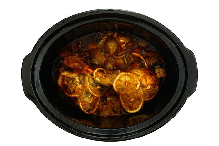 Paetila de cordero confitado con limón y miel en Crock Pot