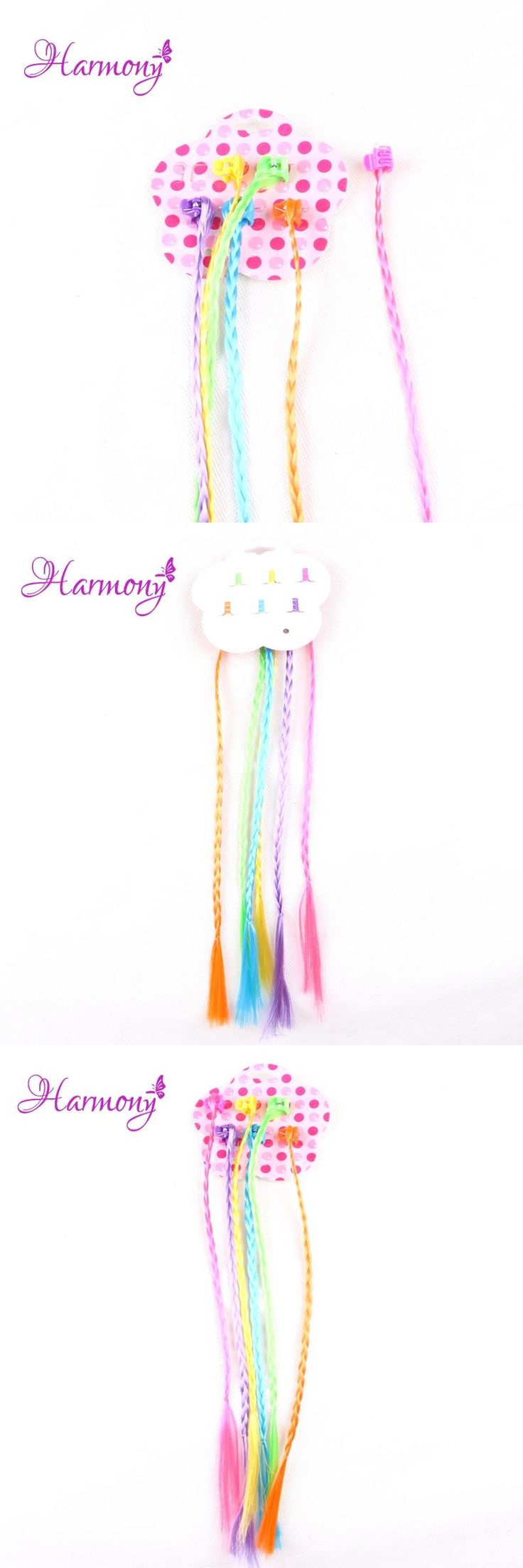 Harmony Plus Hair 1pack Small claw clip with synthetic pre braided hair for kids and girls and party