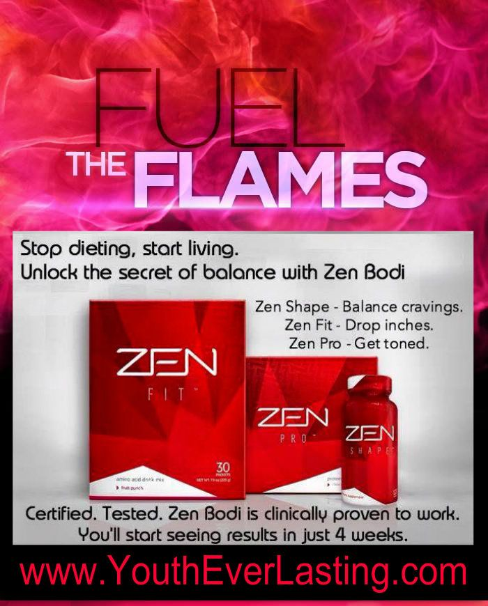 Take the New Year by storm and get your body in the best shape ever with a healthy new product line called Zen by Jeuness. www.youtheverlasting.com