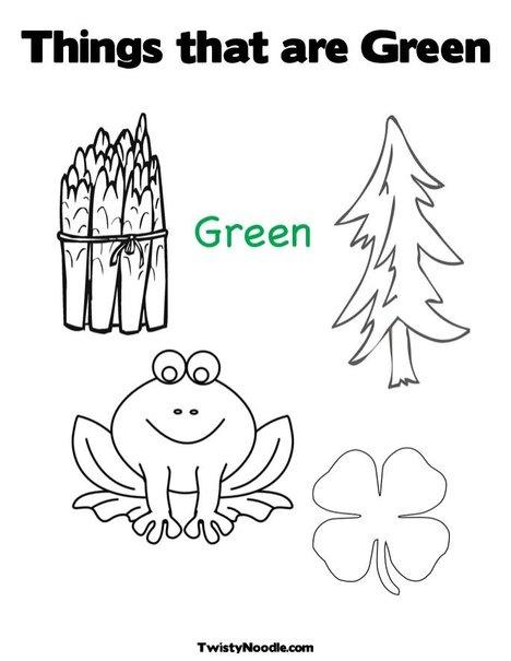 Color Green Worksheet Worksheets For School - pigmu