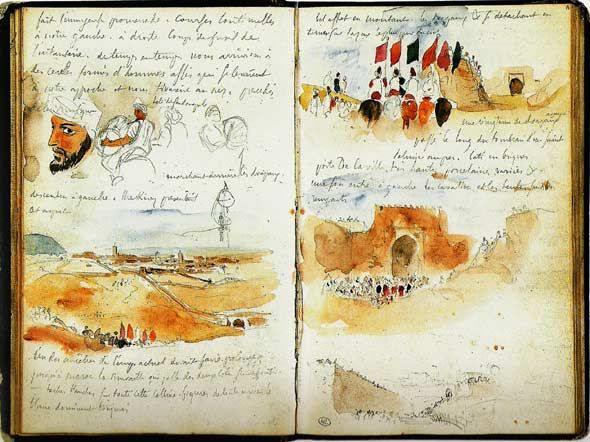 Sketchbook, Eugene Delacroix. What would I say ? where do I begin ? When ? Was at the start with my very special friend ? Or was it at the end.