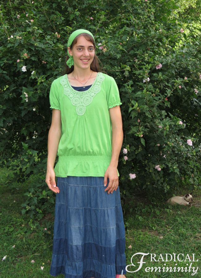Go Green - A Modest Outfit Post