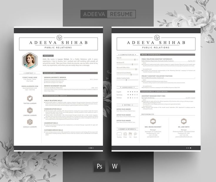 The 25+ best Indesign resume template ideas on Pinterest Cv - resume template indesign