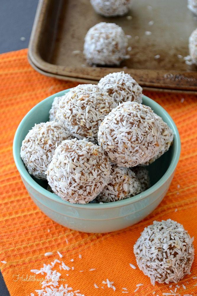 Spiced Carrot Coconut Truffles (no-bake!) #paleo # ...
