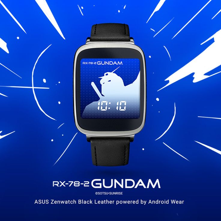 Update your ASUS ZenWatch with a Gundam watch face | Android Wear