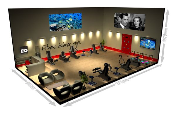 A Great 3d Fitness Studio Design Design 3d Model Design Studio