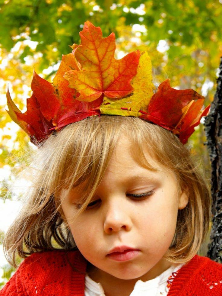 Herbstdeko basteln mit den Kindern kreative Ideen