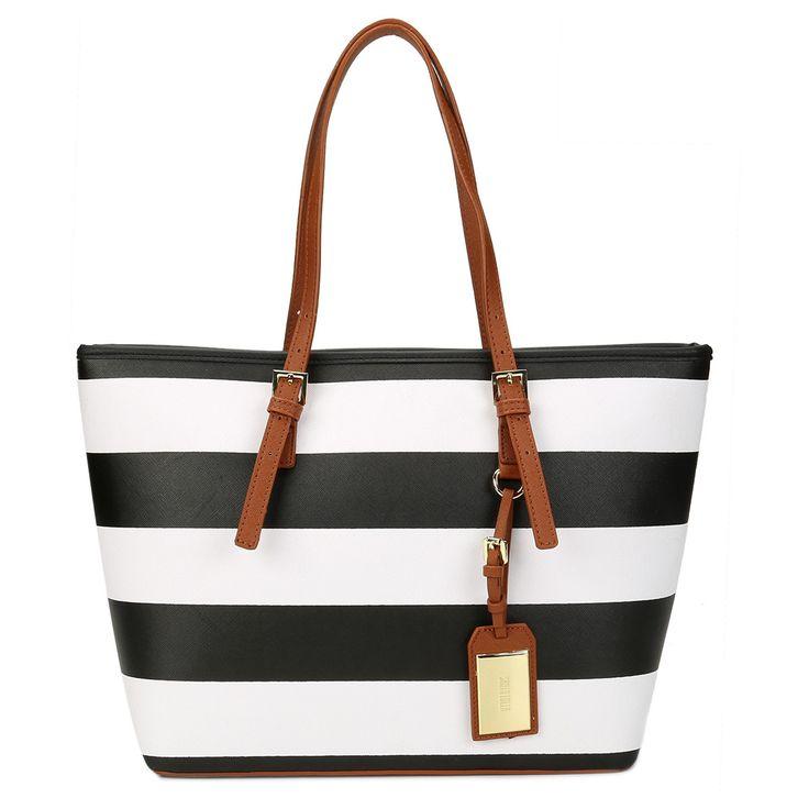 Bolsa Santa Lolla Shopper Chaveiro Preto e Branco | Zattini