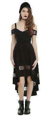 Nuevo sin etiquetas Hot Topic Royal Bones Negro Gótico Hi Low Encaje Vestido Pequeño in Ropa, calzado y accesorios, Ropa para mujer, Vestidos | eBay