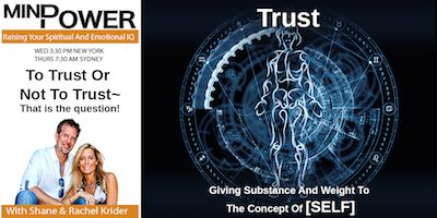 Find out how to trust, when to trust, what or who to trust and most importantly, why to trust.