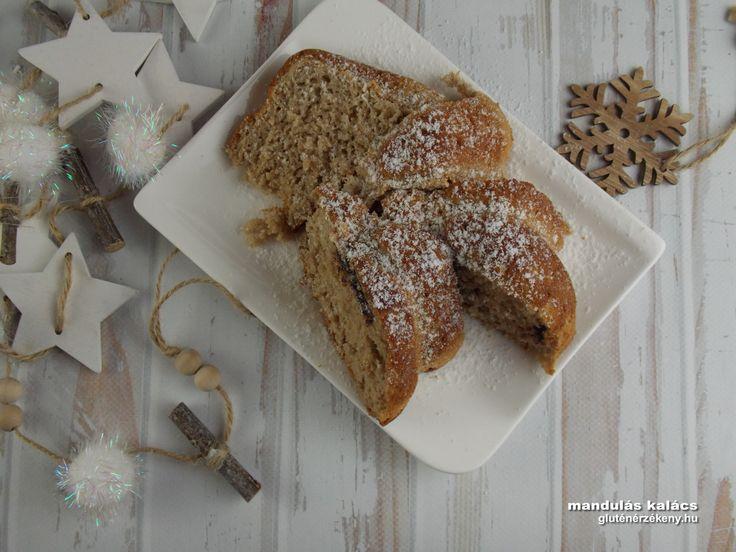Mandulás gluténmentes kalács Finom reggeli kalács készíthető alternatív gluténmentes gabonákkal és olajos magvakkal. Tízóraira, és vendégvárónak is kitűnő.