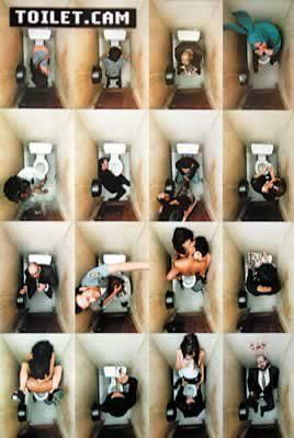 24x36 Toilet Cam Bathroom Scenes Art Poster Print >>> Click image for more details.