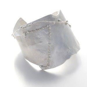 Reticulated silver bracelet by Rikke Kjelgaard