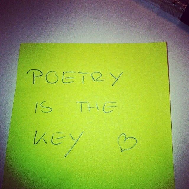 Poetry is the key - Denkzettel von Tina Rausch #litmuc13 #denkzettel