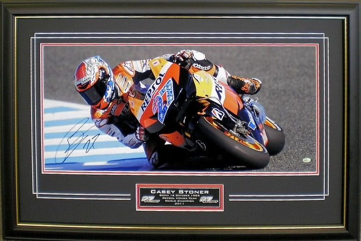 Casey Stoner Signed and Framed Photo