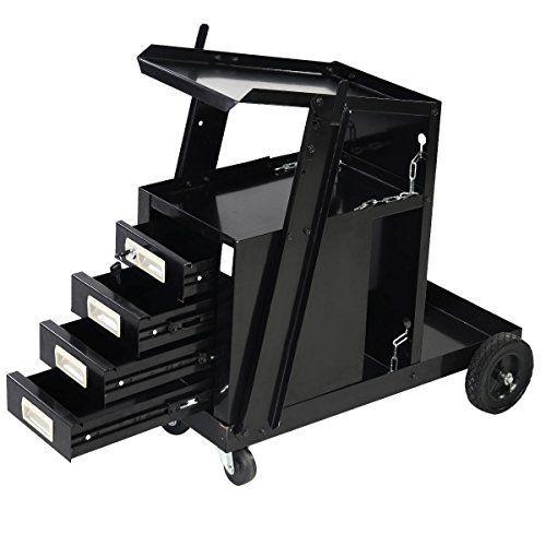 Goplus Universal Welder Cart MIG TIG ARC Flux 4 Drawer Sliding Cabinet Welder Welding Cart by Goplus
