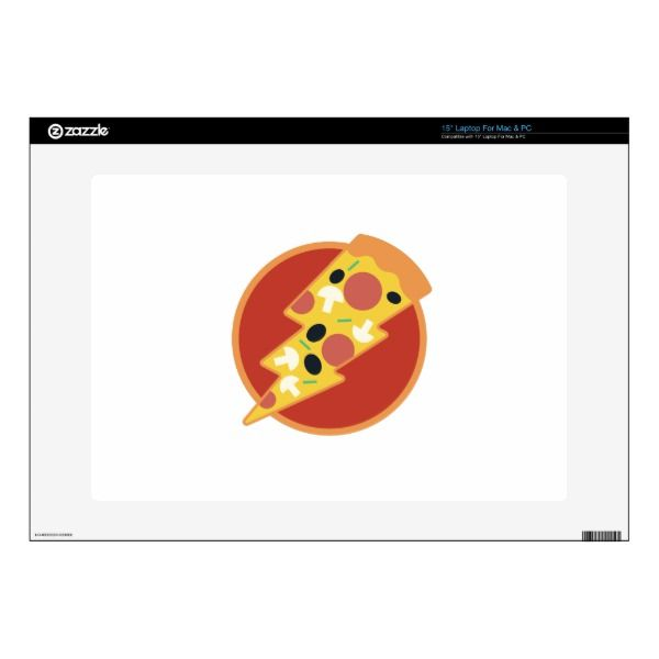 Flash Pizza Laptop Skin Custom Brandable Electronics Gifts for your buniness #electronics #logo #brand