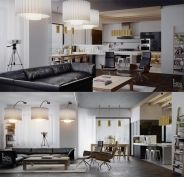 Continue with a beautiful apartment we want to introduce to you. Worldly Apartment in Kiev, Ukraine. What is immediately striking about this project f...