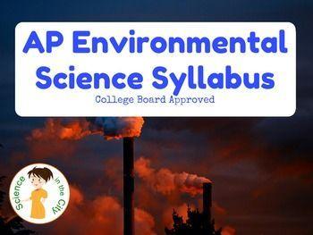 AP Environmental Science Syllabus   Environmental Education
