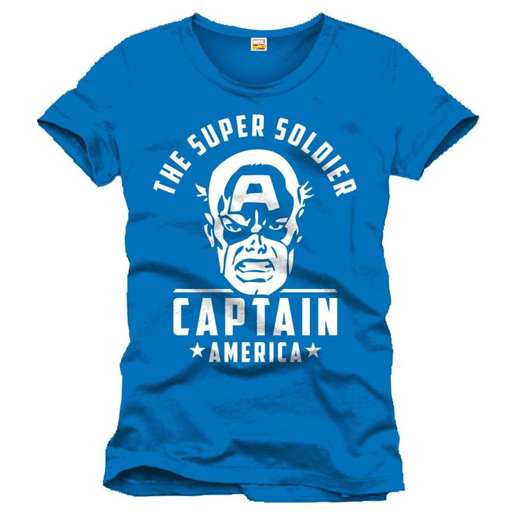 Tee-Shirt Bleu The Super Soldier Captain America