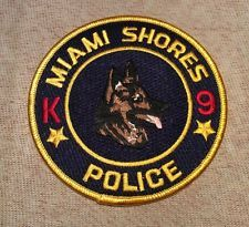 Miami Shores Florida K9 Police Patch