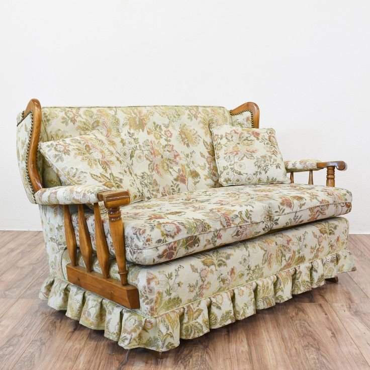This Rocking Sofa Is Featured In A Solid Wood With A
