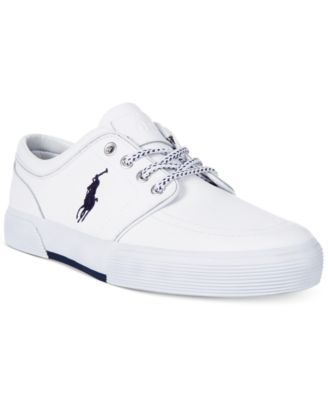Polo Ralph Lauren Faxon Low Leather Sneakers Color/White (*)