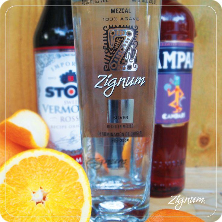 Zigroni  #ZignumMezcal #Zignum #Mezcal #Cocktails #Campari #Mixology #Libations #Oaxaca #GreenAgave #Silver