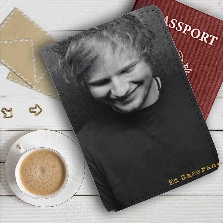Ed Sheeran Smile Leather Passport Wallet Case Cover
