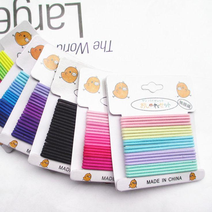 20 stks/set Hoge Kwaliteit Snoep Kleur Banden Rubber Haarband Touw Paardenstaart Houder Elastische Haarband 000185
