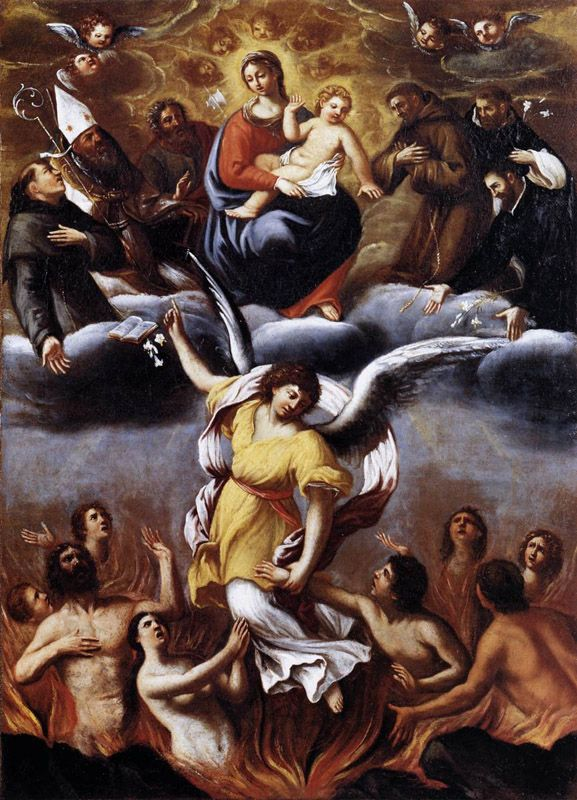An Angel Frees the Souls of Purgatory L. Carracci, 1610, Oil on canvas, Pinacoteca di Bologna,