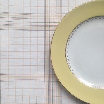 image of assiette vintage plate jaune vaisselle vintage. Black Bedroom Furniture Sets. Home Design Ideas