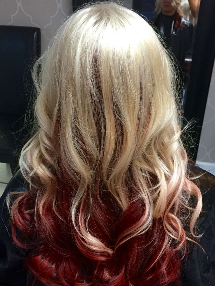 Blonde Hair With Red Tips Www Pixshark Com Images