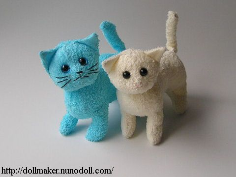 Cats of towel - How to make