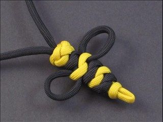 Paracord Bumblebee Necklace by JD Lenzen of Tying It All Together