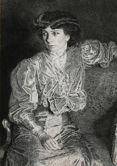 Max Svabinsky (1873 - 1962), Misses Svabinsky, etching, 1906 / 1973 (re-print), opus 26, 30 x 21 cm
