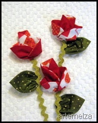 The 112 best origami en tela images on pinterest fabric pap flor de fuxico em origami mightylinksfo
