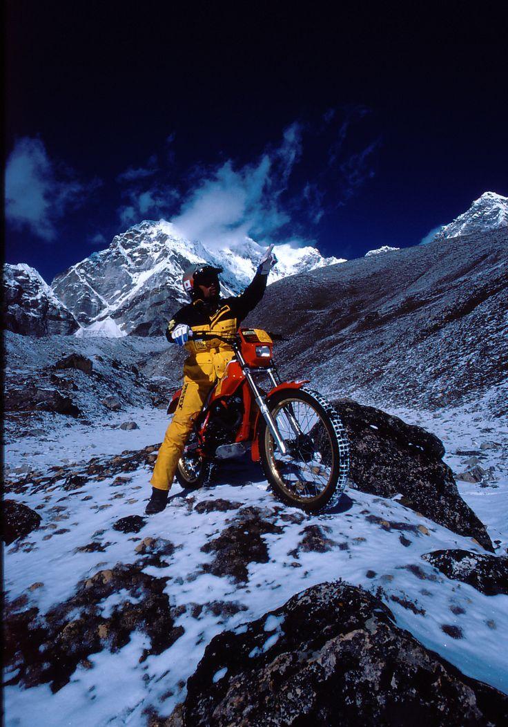 【1984年 エベレスト】 ネパール側から挑戦。プモリ南稜でバイクによる高度5,880mという世界記録を樹立する。