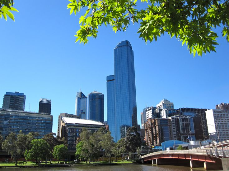 Melbourne's famous Rialto tower - taken from Southbank