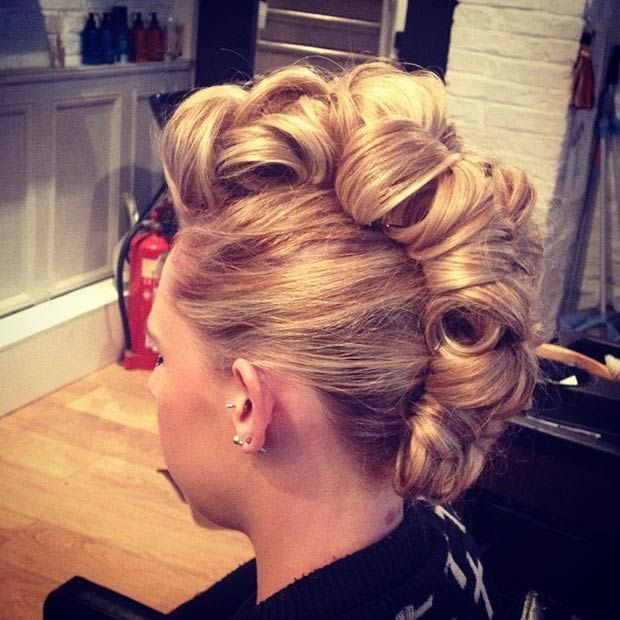 23 Faux Hawk Hairstyles For Women Updo Faux Hawk