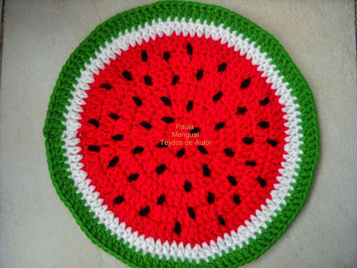 Paula Mengual Tejidos de Autor: El círculo perfecto - Tutorial Agarradera de sandía -