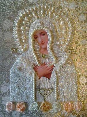 Encaje blanco Madonna