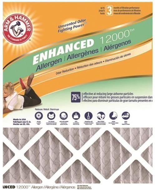 """Arm & Hammer AF-AH21224CS4 Allergen Electrostatic Air Filter, 12"""" x 24"""" x 1"""""""