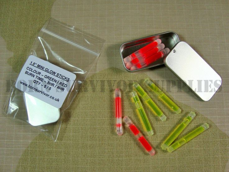 Mini glow #sticks tin - green & red survival kit #fishing map reading #night ligh,  View more on the LINK: http://www.zeppy.io/product/gb/2/171983914807/