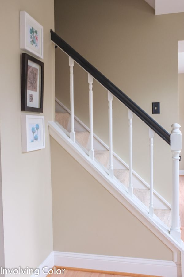 Best Black And White Painted Banisters How To Paint An Oak 400 x 300